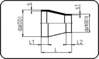 PN25 - Concentric Reducer - Short Spigot