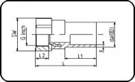 Brass - R - Female Thread - For E-Adaptor