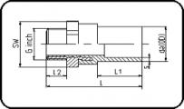 Brass - R - Male Thread - For E-Adaptor