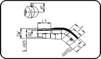 E-Adaptor Elbow 45° - Steel - Male Thread
