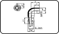 E-Adaptor Elbow 90° - Brass - Male Thread