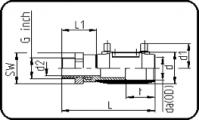 E-Adapter Socket - Brass - Male