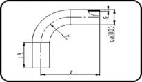 45° Bend - 300mm