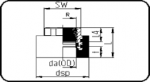 Adaptor - With BSP metal female thread
