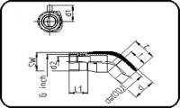 E-Adaptor Elbow 45° - Brass - Female Thread