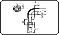 E-Adaptor Elbow 90° - Steel - Female Thread