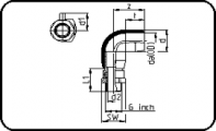 E-Adaptor Elbow 90° - Steel - Male Thread