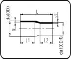 PN25 - Concentric Reducer - Long Spigot