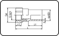 Steel - R - Female Thread - For E-Adaptor