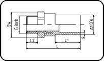 Steel - R - Male Thread - For E-Adaptor